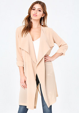bebe Open Front Trench Coat