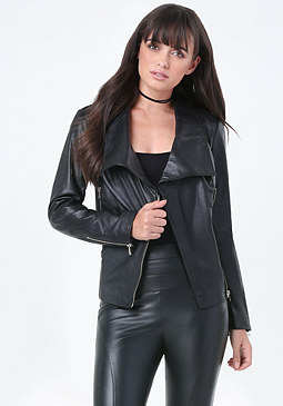 bebe Danielle Leather Jacket