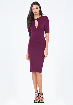 bebe Petite Cutout Sweater Dress