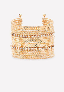 bebe Crystal Bangle Cuff