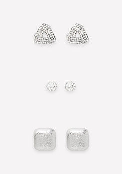 bebe Mix Geo Stud Earring Set