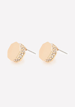 bebe Geo Stud Earrings