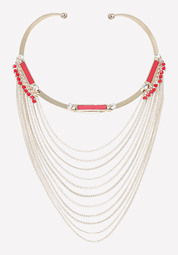 bebe Draped Chain Necklace