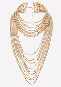bebe Snake Chain Strand Necklace