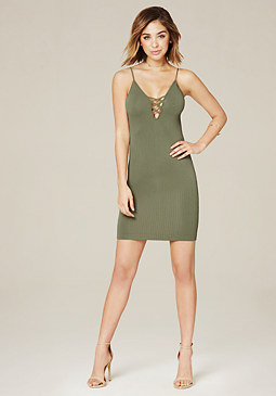 bebe Donna Ribbed Dress