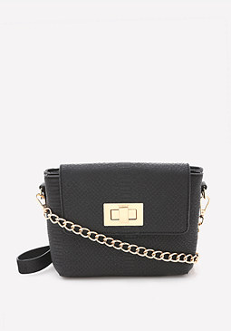 bebe Zoie Turnlock Crossbody Bag