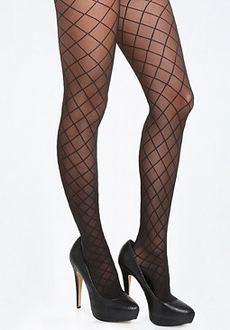 bebe Sheer Diamond Tights