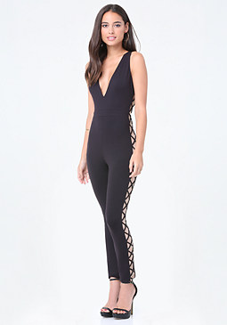 bebe Side Crisscross Jumpsuit