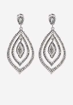 bebe Pave Teardrop Earrings