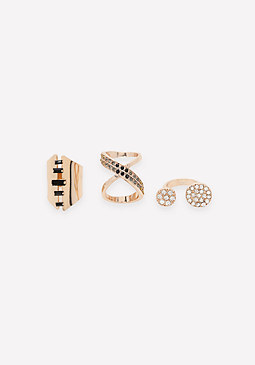 bebe Stackable Ring Set