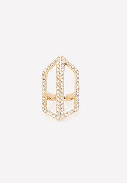 bebe Edgy Cutout Cocktail Ring