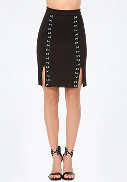 bebe Hook & Eye Pencil Skirt