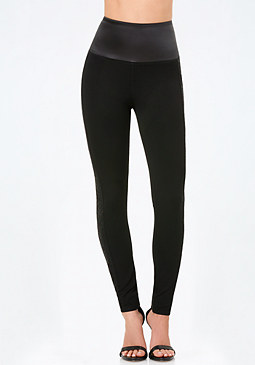 bebe High Tux Waist Leggings