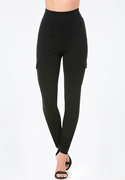 bebe High Waist Cargo Leggings