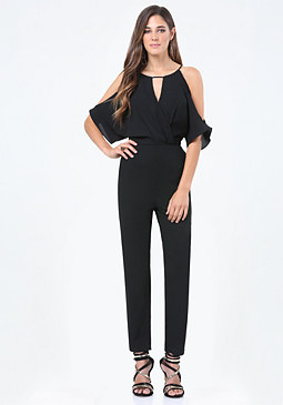 bebe Slit Sleeve Jumpsuit