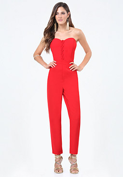 bebe Sweetheart Jumpsuit