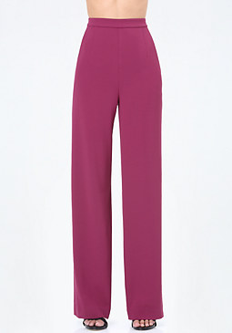 bebe High Rise Wide Leg Trousers