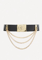 bebe Lion Medallion Stretch Belt