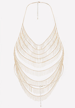 bebe Chain Fringe Body Chain