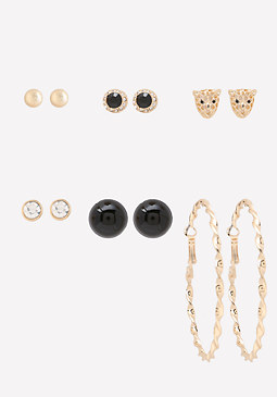 bebe 6-Pack Earring Set