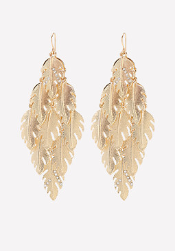 bebe Leaf Chandelier Earrings