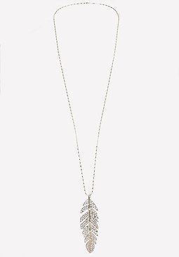 bebe Leaf Pendant Necklace