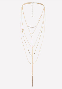 bebe Layered Delicate Necklace