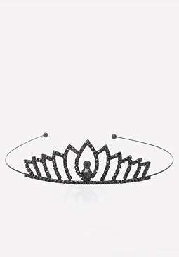 bebe Black Crystal Tiara