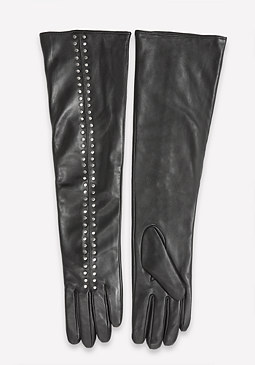bebe Studded Leather Gloves