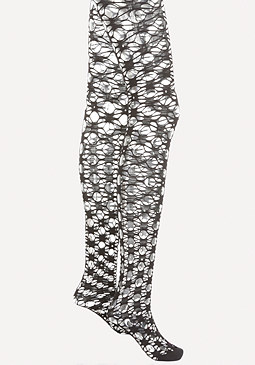 bebe Rhinestone Open Knit Tights