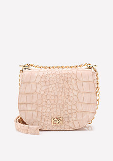 Michelle Croc Saddle Bag