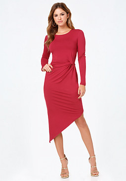 bebe Asymmetric Hem Dress