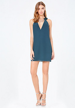 bebe Chain Trim Shift Dress
