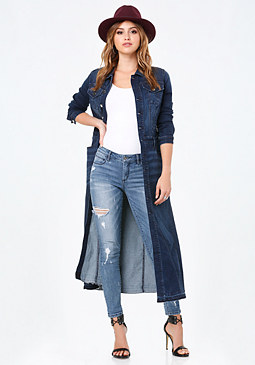 bebe Denim Duster