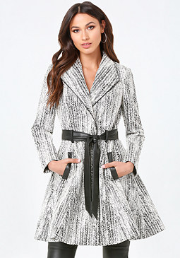 bebe Natalie Flirty Skirt Coat