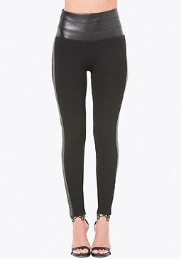 bebe Studded Tux Leggings