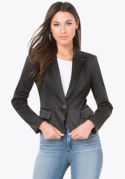 bebe Tiana Single Button Blazer