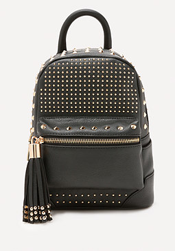 bebe Jett Studded Mini Backpack