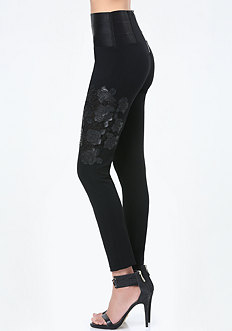 Applique High Rise Leggings