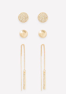 bebe Stud & Drop Earring Set