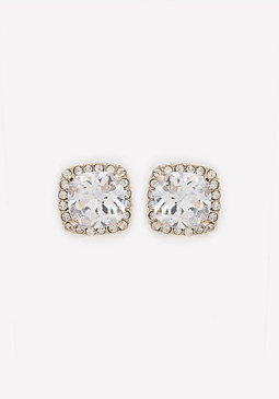 bebe Square Crystal Earrings