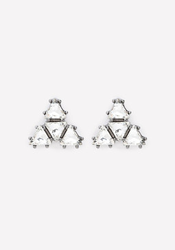 bebe Triangle Stud Earrings