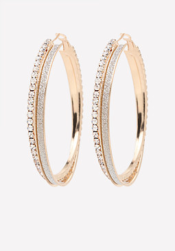 bebe Glam Double Hoop Earrings
