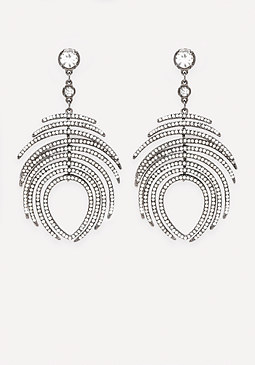 bebe Crystal Peacock Earrings