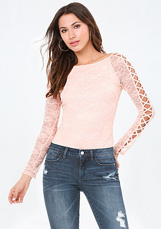 Lattice Sleeve Bodysuit