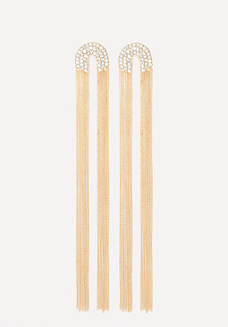 bebe Crystal Cap Duster Earrings