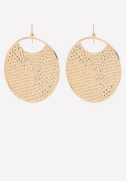 bebe Snake Disc Earrings