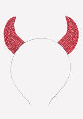 bebe Rhinestone Devil Headband