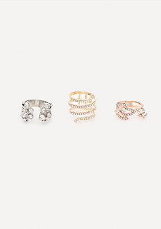 Glam Crystal Ring Set