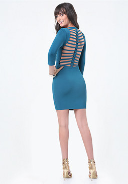 bebe Brigit Braided Back Dress